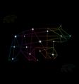 Bear abstract vector image