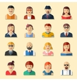Flat round avatar icons faces people icons vector image