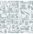 Seamless pattern with journalism icons vector image vector image