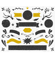 gold and black vintage style design elements set vector image vector image