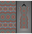 Dress with seamless pattern vector image