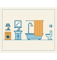 Bathroom with furniture vector image