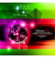 Valentines disco vector image