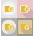 business and finance flat icons 02 vector image
