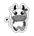 cute cow kawaii character vector image