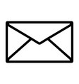 envelope line icon vector image