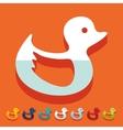 Flat design duck vector image