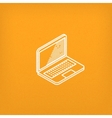 isometric icon of laptop vector image