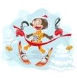 Monkey symbol 2016 goes skiing vector image