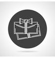 Present cards black round icon vector image