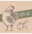 Vintage design with chickens Happy Mothers day vector image