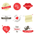 Set of Valentine s Day red labels and badges vector image vector image