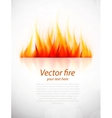 Background with fire vector image