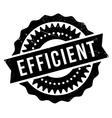 Efficient stamp rubber grunge vector image