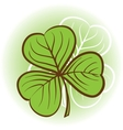 Three leaf clover vector image