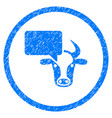 cow opinion rounded grainy icon vector image