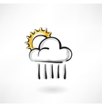 cloud and the sun grunge icon vector image vector image