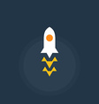 Rocket spacecraft Retro-style emblem icon vector image