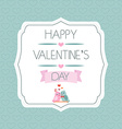 Congratulations to the Valentines Day Label Birds vector image