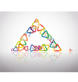 triangle reflection vector image