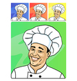 smiling face of cook vector image
