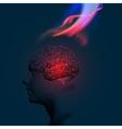 Human Brain Abstract Theme vector image