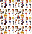 Business people in different actions vector image vector image