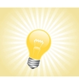 Lightbulb with light beams vector image