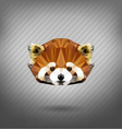 abstract triangle polygonal Lesser panda vector image