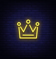 crown is a neon sign neon icon light symbol web vector image
