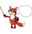 fox teacher vector image