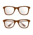 Glasses Brown Hipster vector image