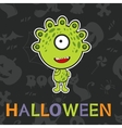 Halloween card with cute monster vector image
