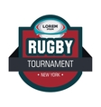 label rugby tournament ball graphic vector image
