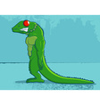 lizard cartoon vector image