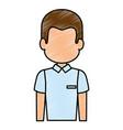 man profile cartoon vector image
