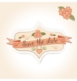vintage wedding badge for decoration of vector image