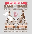 Vintage wedding invitation 2 vector image