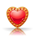 Glossy big red jewelry heart vector image vector image