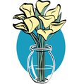 lillies vector image vector image