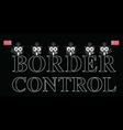 USA border control vector image