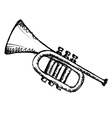horn musical instrument vector image