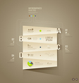 Origami paper cuts Infographics for business vector image