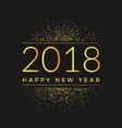 2018 gold glitter confetti background vector image