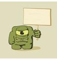 monster banner vector image