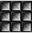 Design seamless square convex pattern vector image
