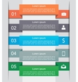 Infographic options banners vector image
