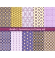 Arabian seamless pattern background set vector image