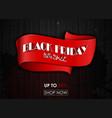 black friday big sale red tag ribbon banner vector image
