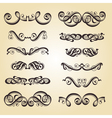 calligraphy ornament set 2 vector image